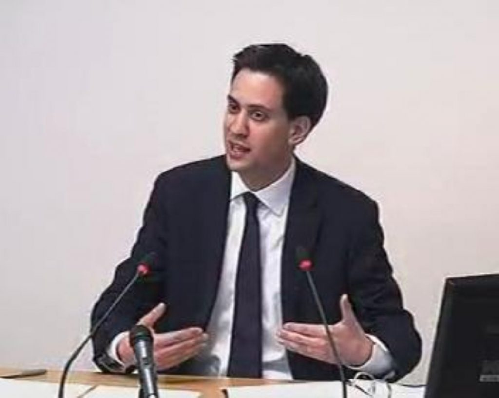 Ed Miliband gives evidence at the Leveson inquiry