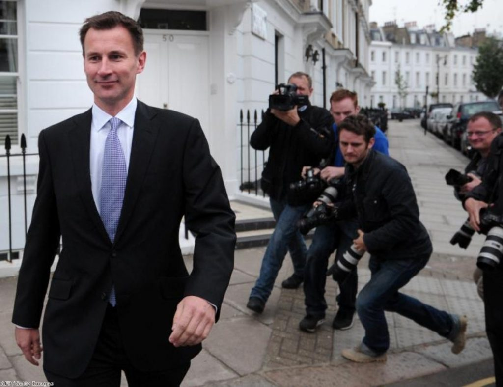 Hunt's statement yesterday tried to brand the Keogh report as Labour's 'darkest moment'.