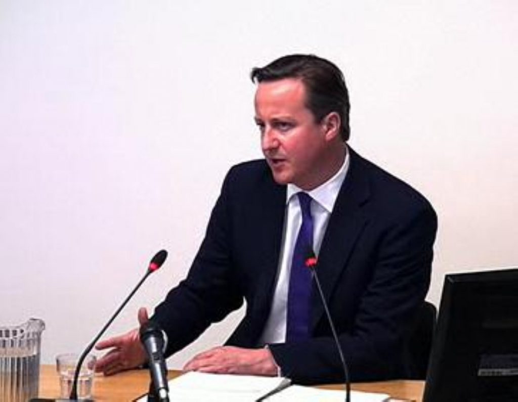 David Cameron has prepared intensively for today's Leveson grilling