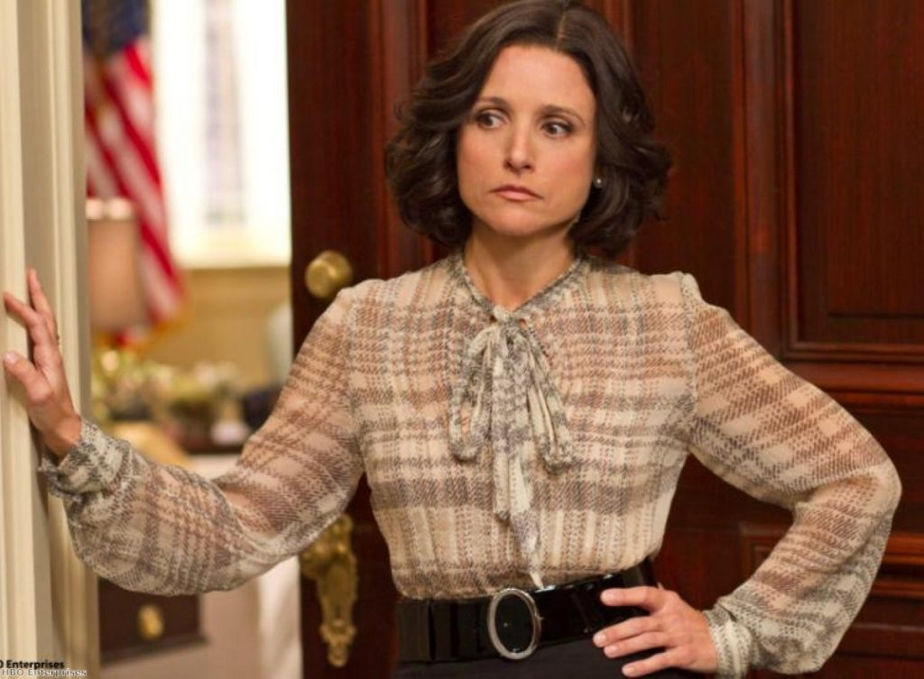 Veep stars Julia Louis-Drefus as a vice-president called Selina
