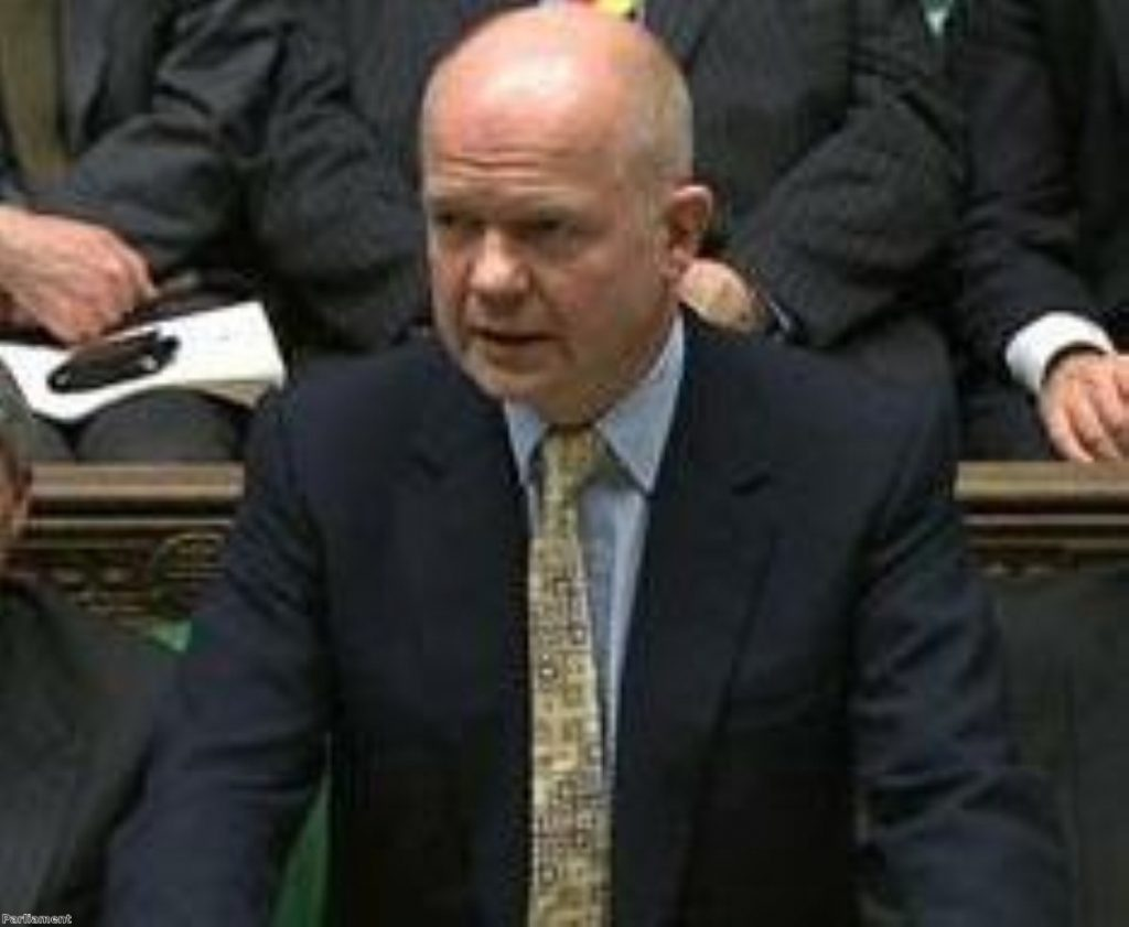 William Hague, defending the government 15 years after his first PMQs