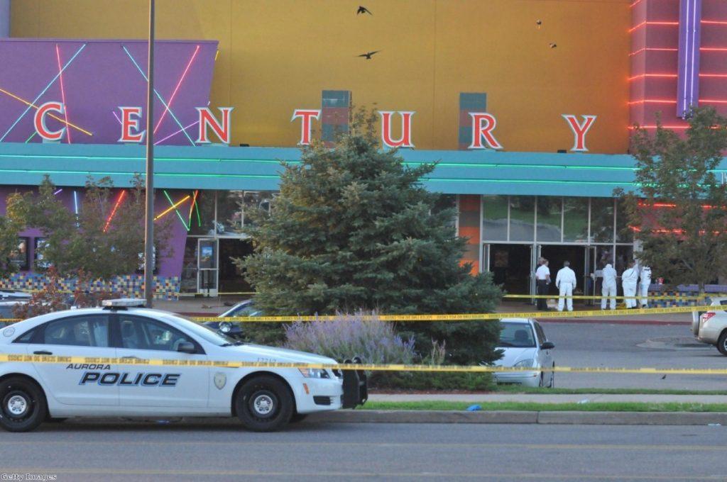 The scene of the shooting in Denver