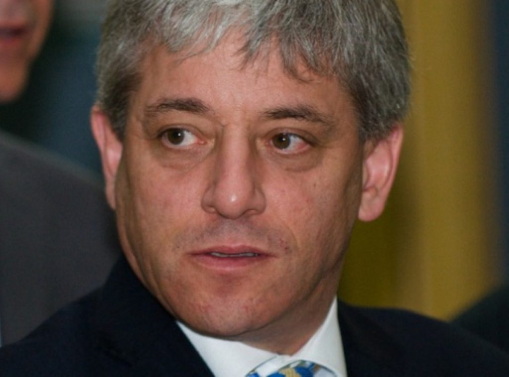 """John Bercow gets hot under the collar - or """"exasperated"""" at least"""