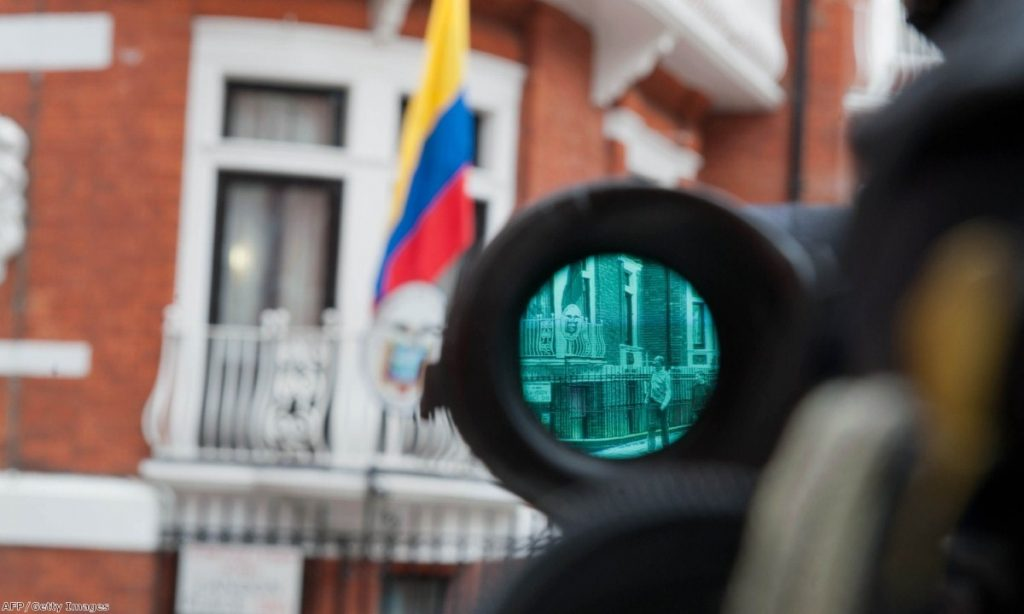 Julian Assange remains holed up in the Ecuadorian embassy