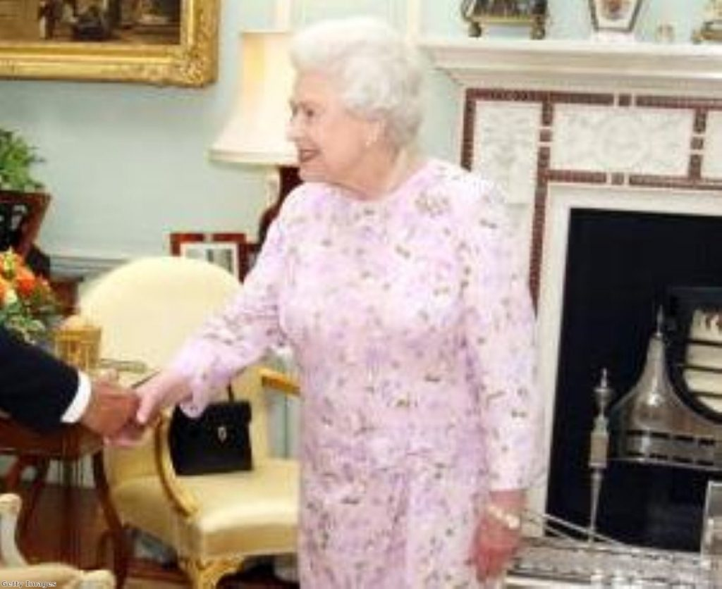 The Queen during an investiture ceremony