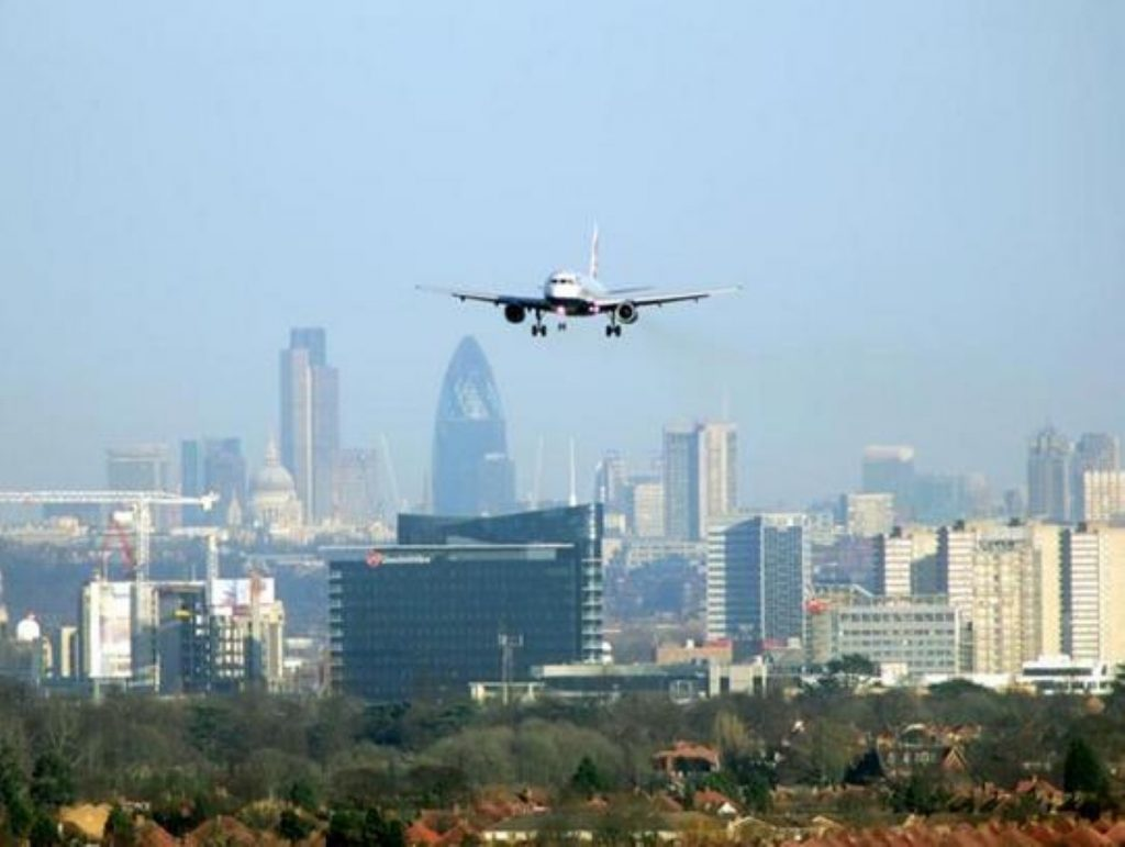 Planes over London: Campaigners believe expanding Heathrow adds to a pre-existing problem.
