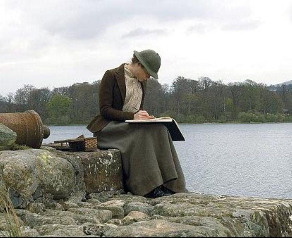 Renee Zellweger as Beatrix Potter, devising her new rather improbable character