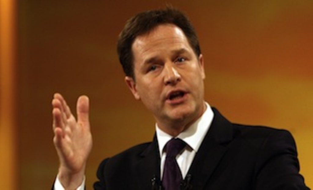 """Nick Clegg: """"we are the party of jobs"""""""