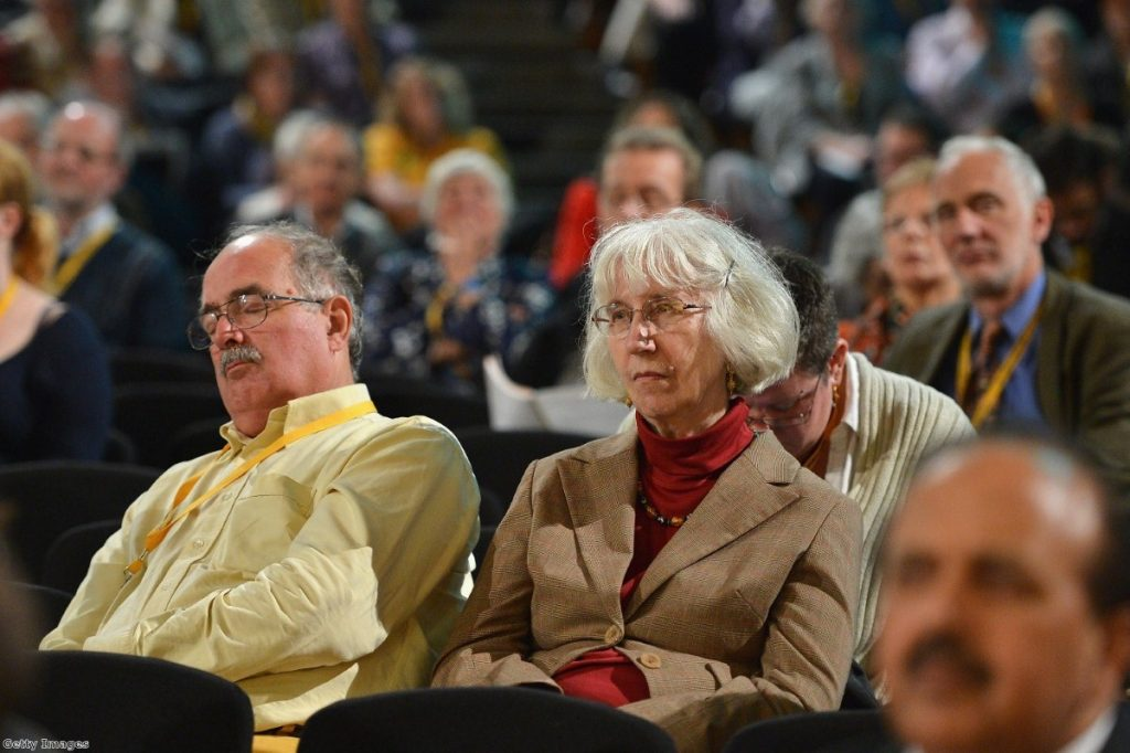 Two Lib Dems lost in the excitement of party conference.