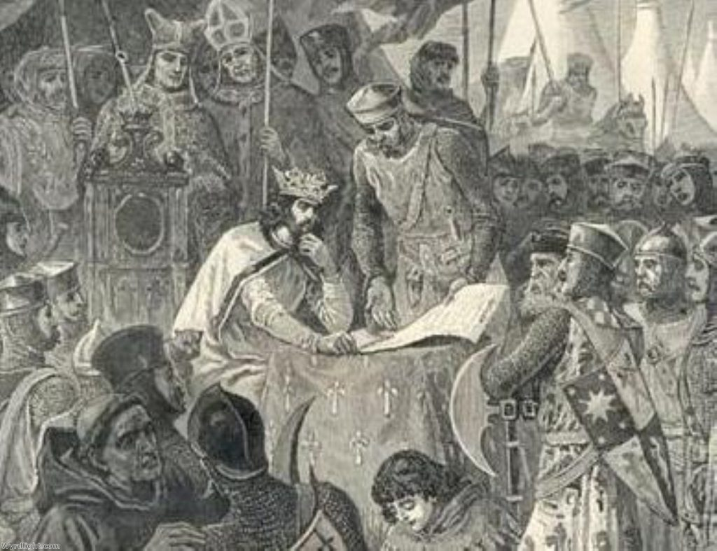 King John signs Magna Carta - even as a fairy story, it has political impact