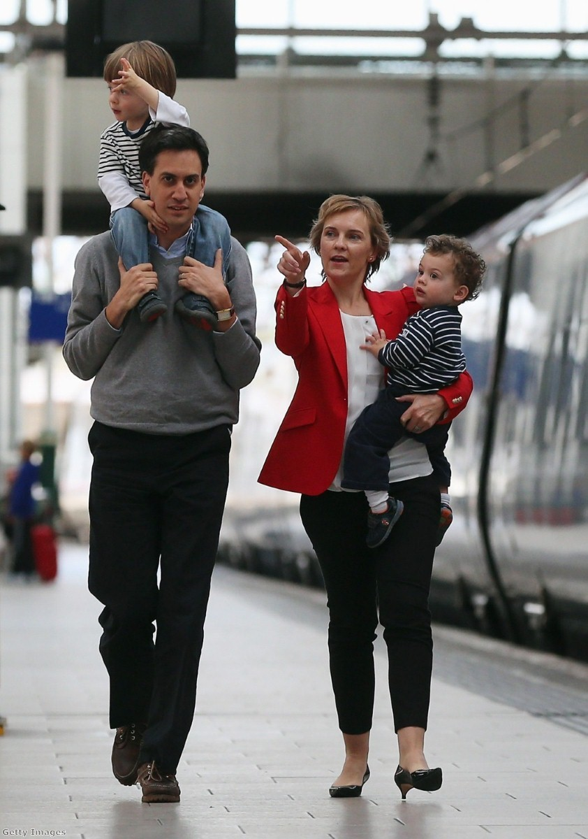 Ed Miliband and wife Justine arrive in Manchester for the party conference.