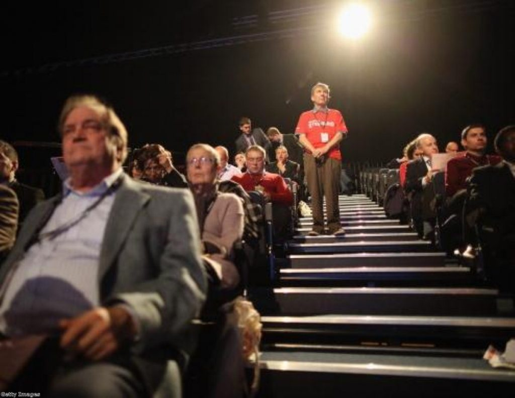 Labour delegates fully engaged with their party conference in Manchester