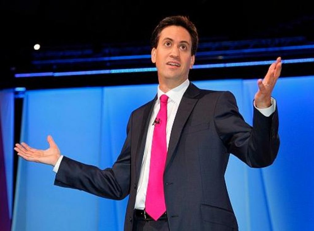 Miliband bossing it