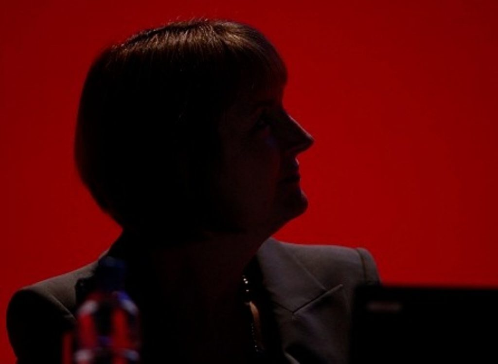 Harriet Harman on stage during the 2012 Labour party conference