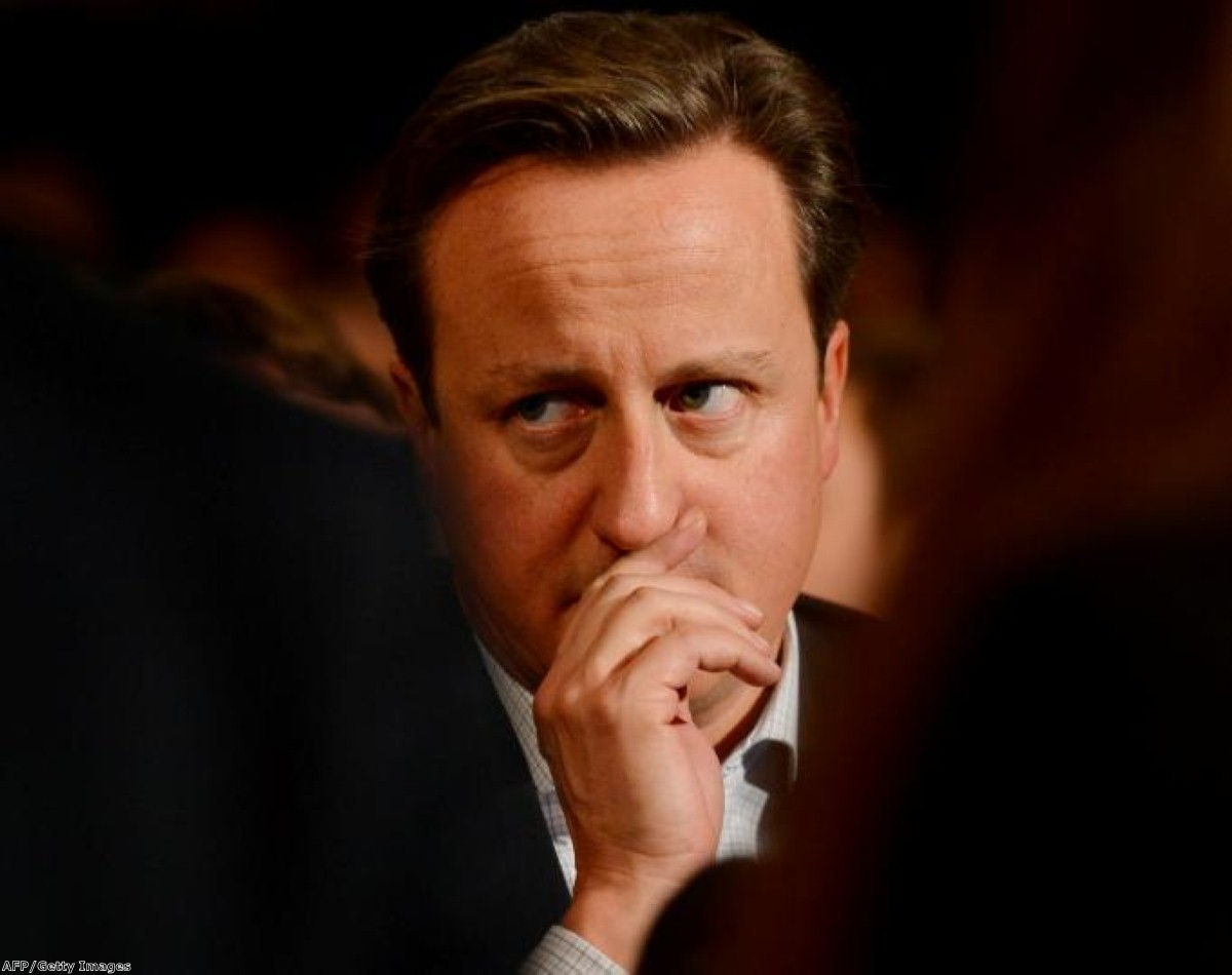 Cameron at the Tory conference: The PM will find it impossible to push for a parliamentary veto
