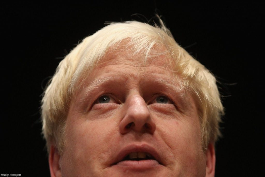 Boris: Joke went down badly.... if he made it at all