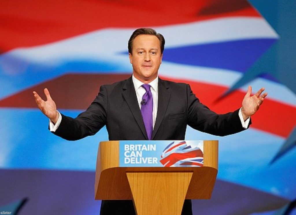 Warming up? Cameron's conference speech was well received.