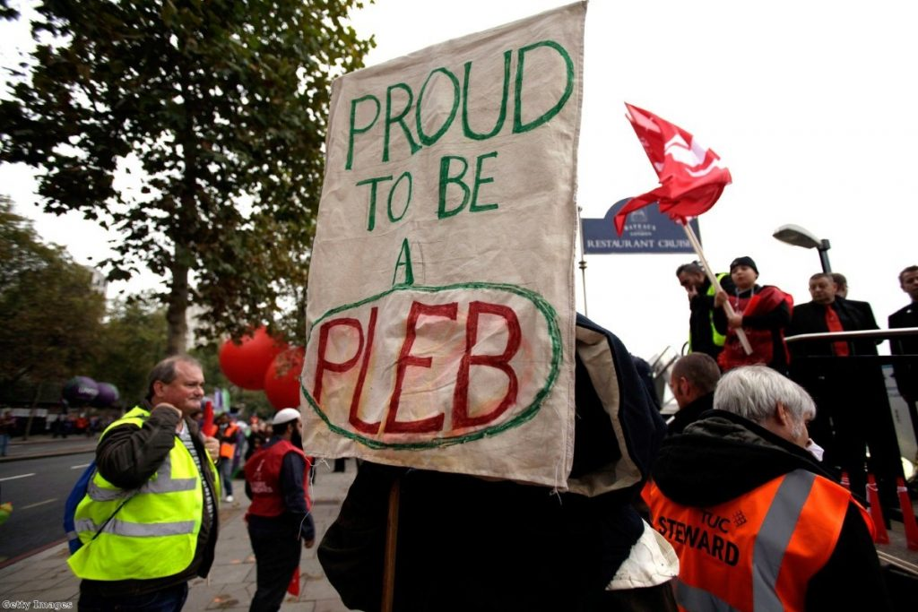 Proud to be a pleb: Campaigners mock Mitchell