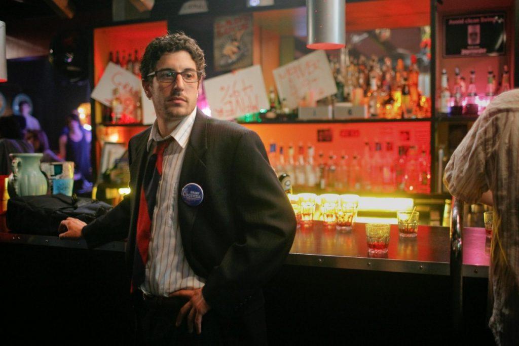 Jason Biggs in a scene in Grassroots