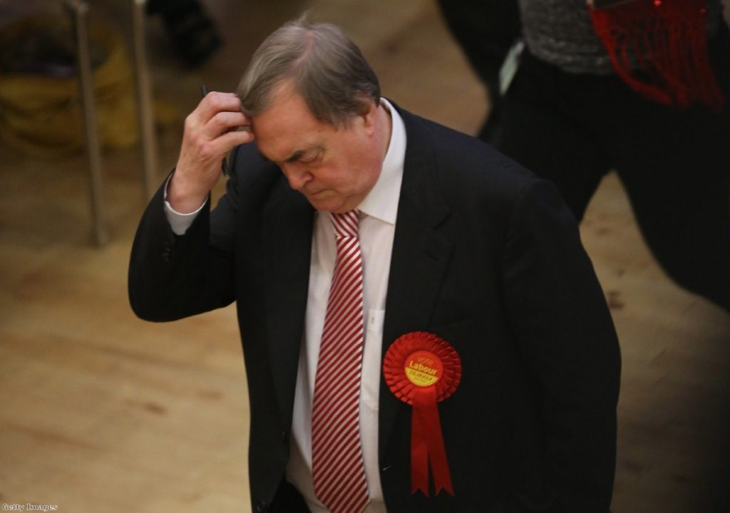 In a harsh blow to Labour, John Prescott lost his bid to become commissioner for Humberside.