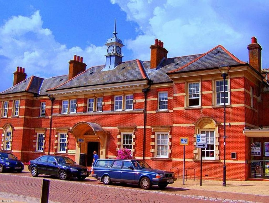 Battleground: The old town hall in Eastleigh
