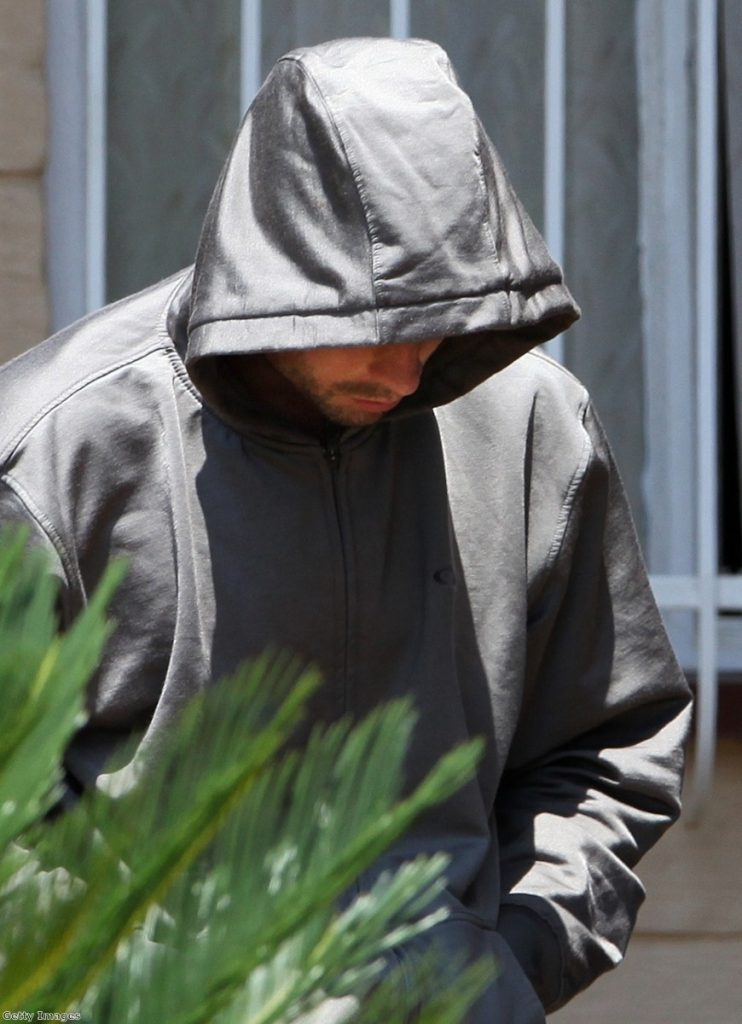 Oscar Pistorius arrives in court this morning