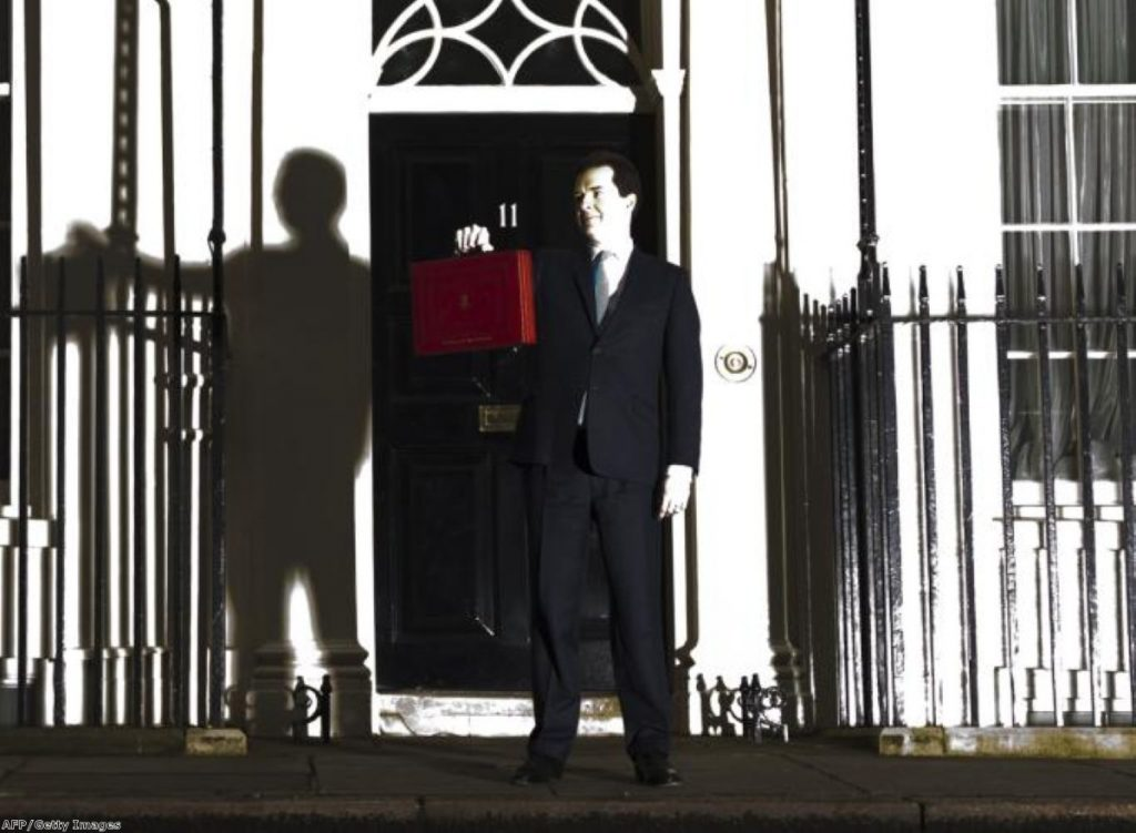 Osborne holds up the famous red box... last year.