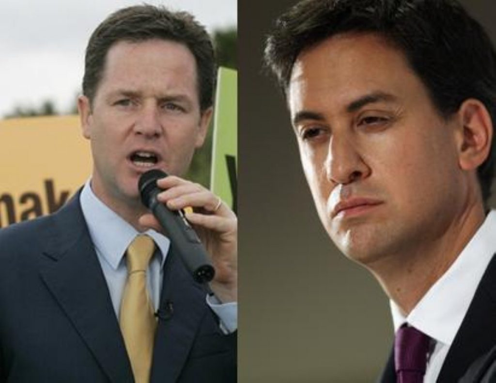 Nick Clegg and Ed Miliband launched their local election campaigns today