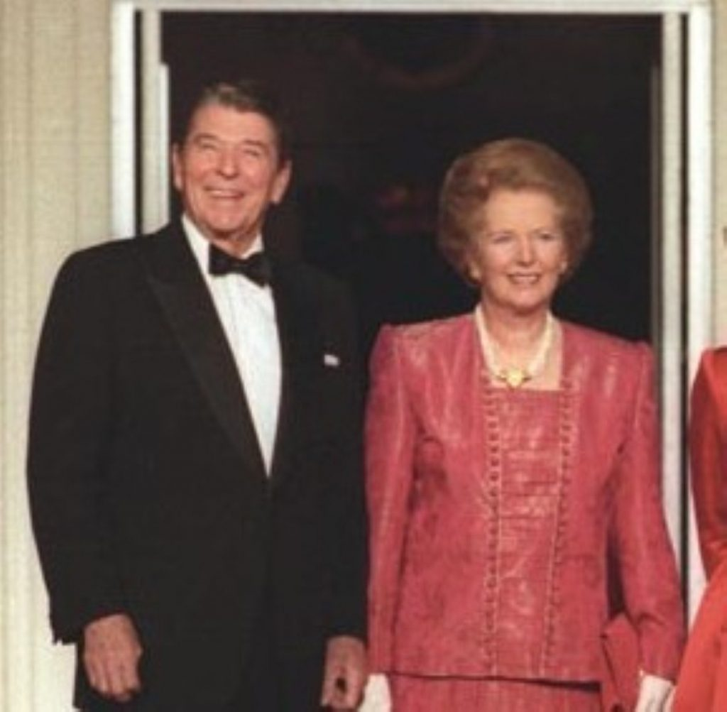 Looking presidential: Ronald Reagan and Margaret Thatcher had a famously close relationship.
