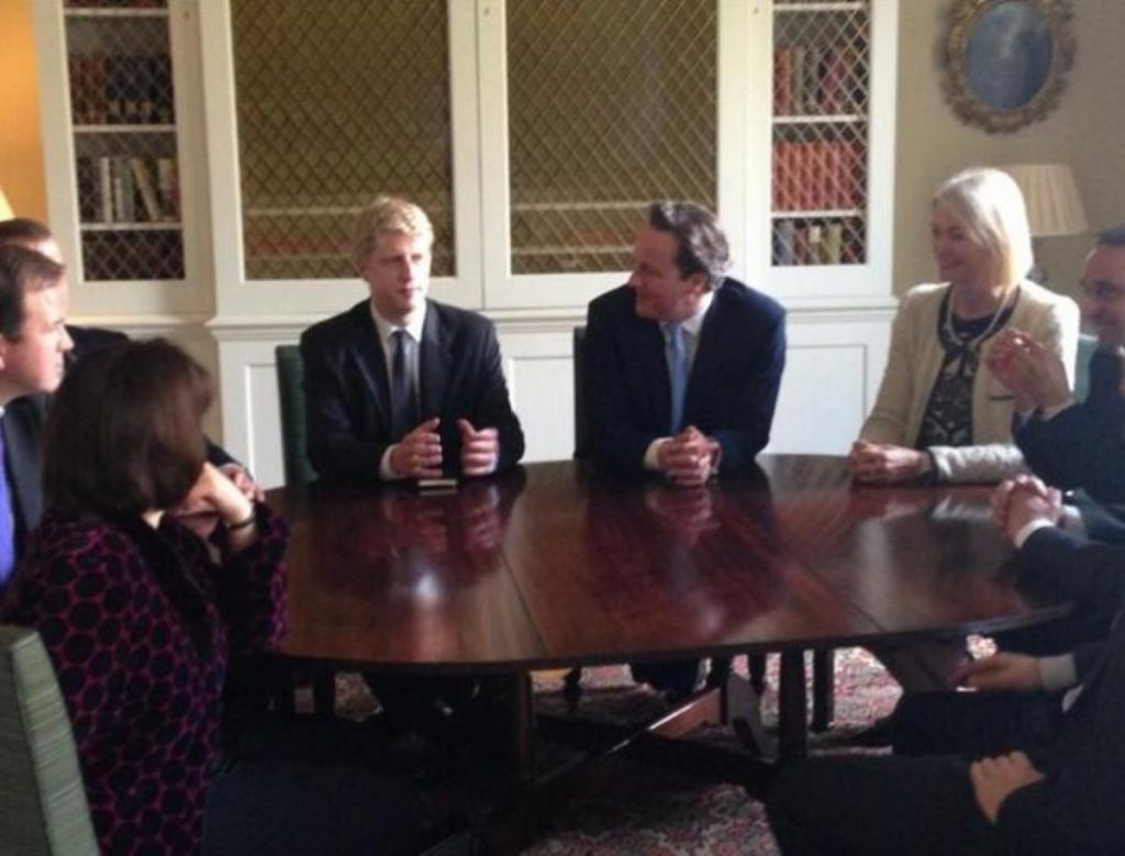 David Cameron meets with his new policy board