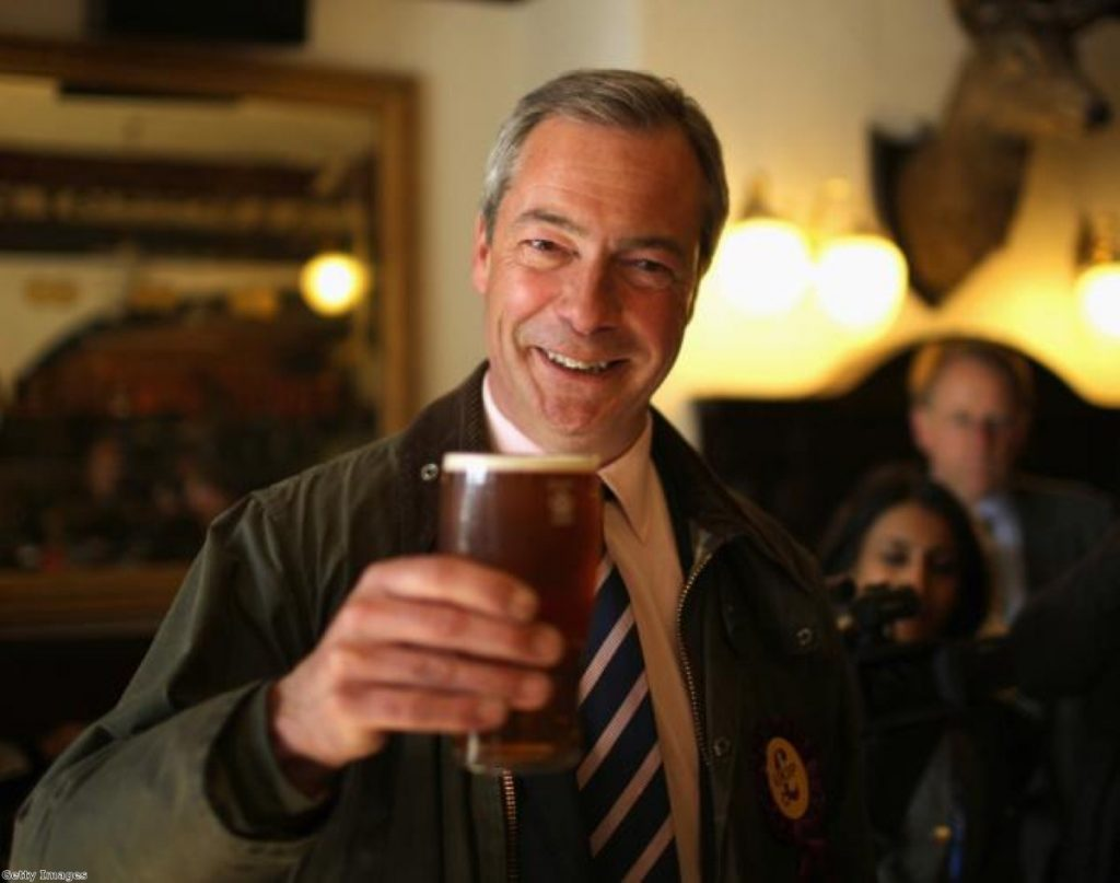 Farage: Nodded during extracts of Rivers of Blood speech