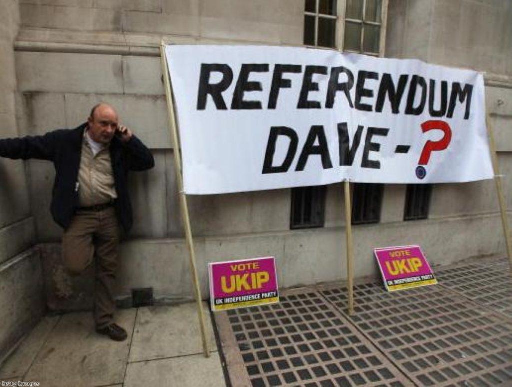 Eurosceptics want a referendum guaranteed in law