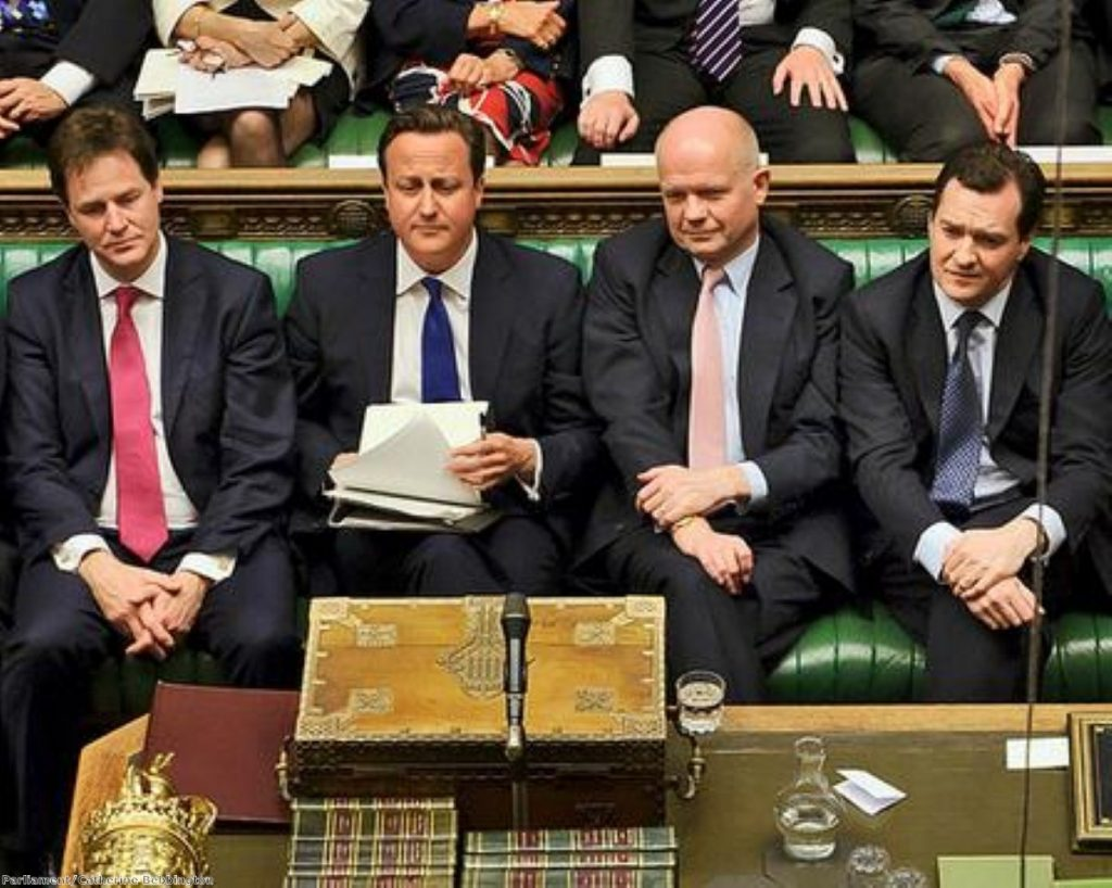 Too easy: Cameron didn't even break into a sweat this week in PMQs