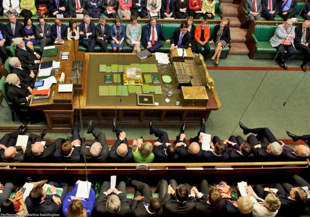 Commons chamber: Grieve, Lansley and Osborne in the fray