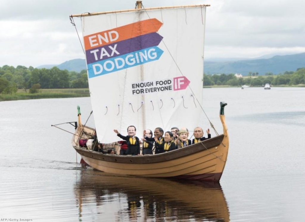 The 'Enough Food For Everyone IF' campaign's ship calls attention to the issue at the G8