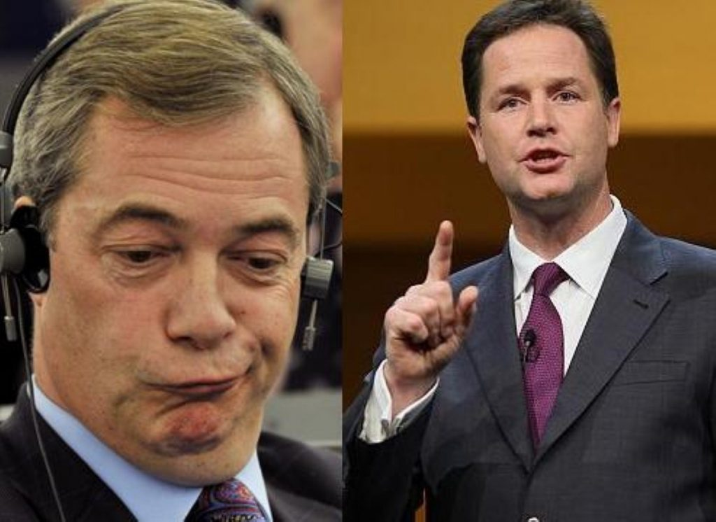 Newfound allies: Farage and Clegg agree on drug law reform