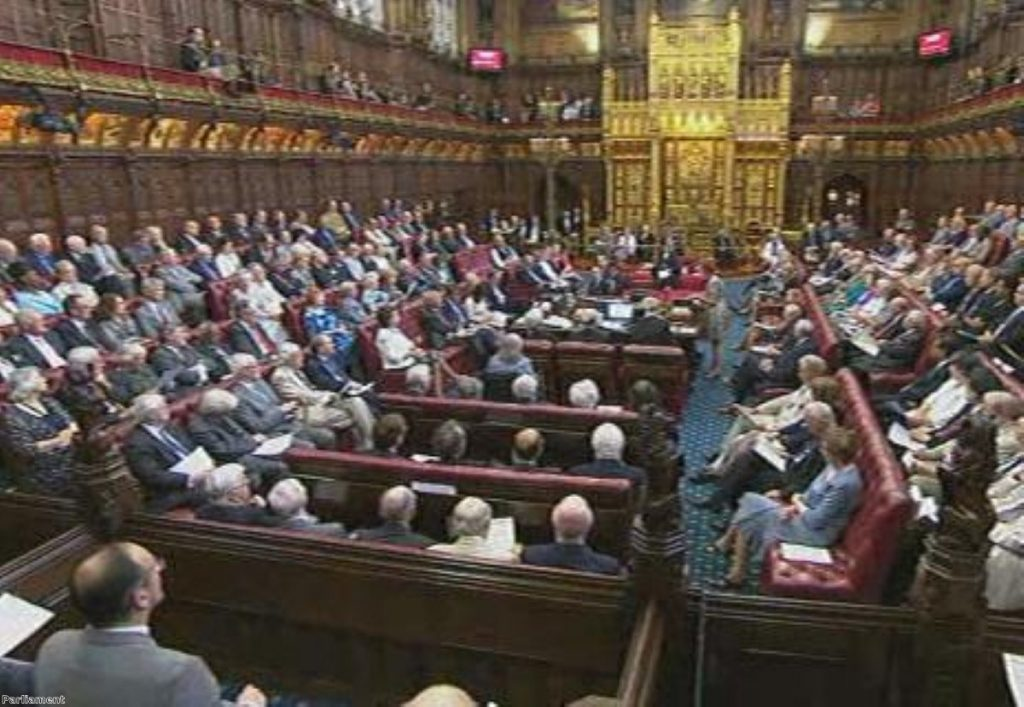 The Lords assembles to hear the 'humble motion' to HM the Queen