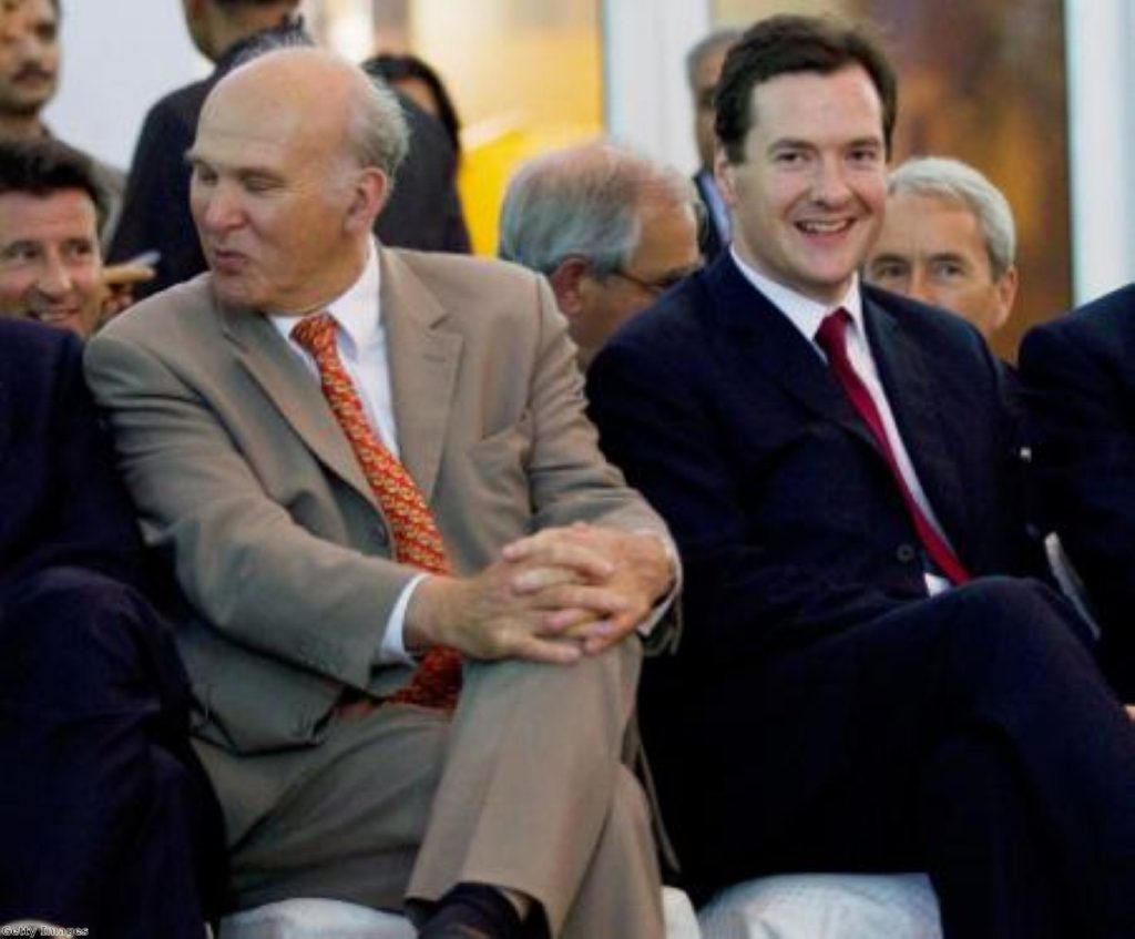 """Vince Cable said George Osborne """"didn't get the message exactly right"""""""