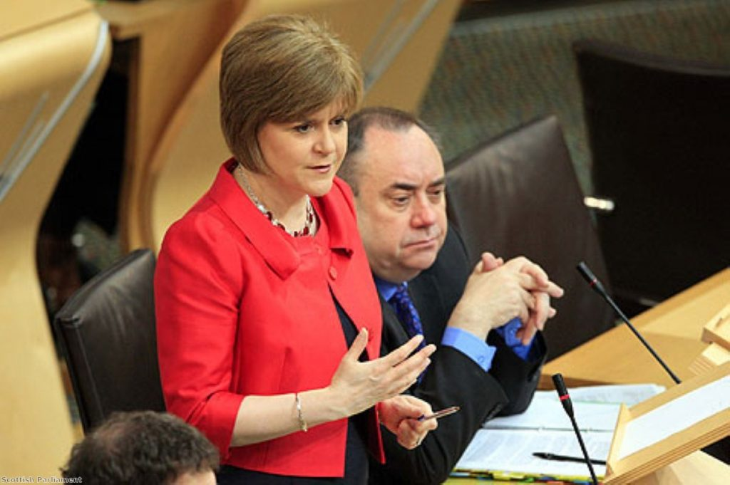 Nicola Sturgeon and Alex Salmond's party could dominate Westminster - helping them towards their real goal