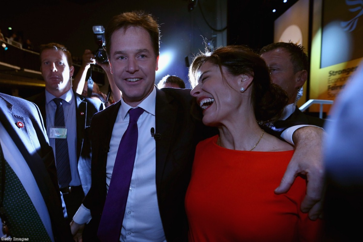 Other parties can't be trusted alone, Clegg says