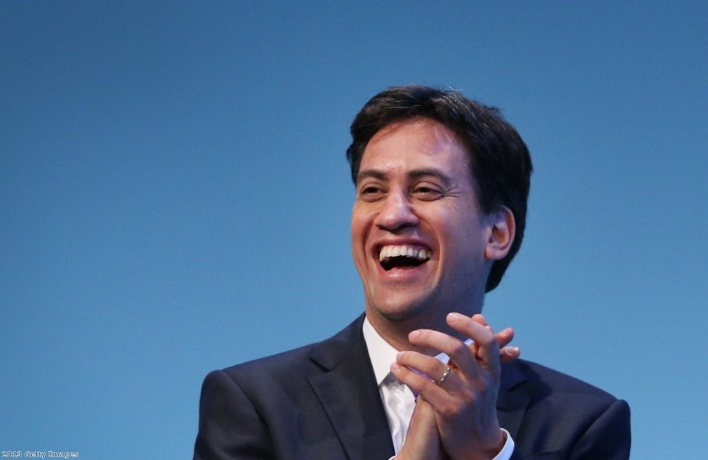 Ed Miliband at the Labour party conference in Brighton