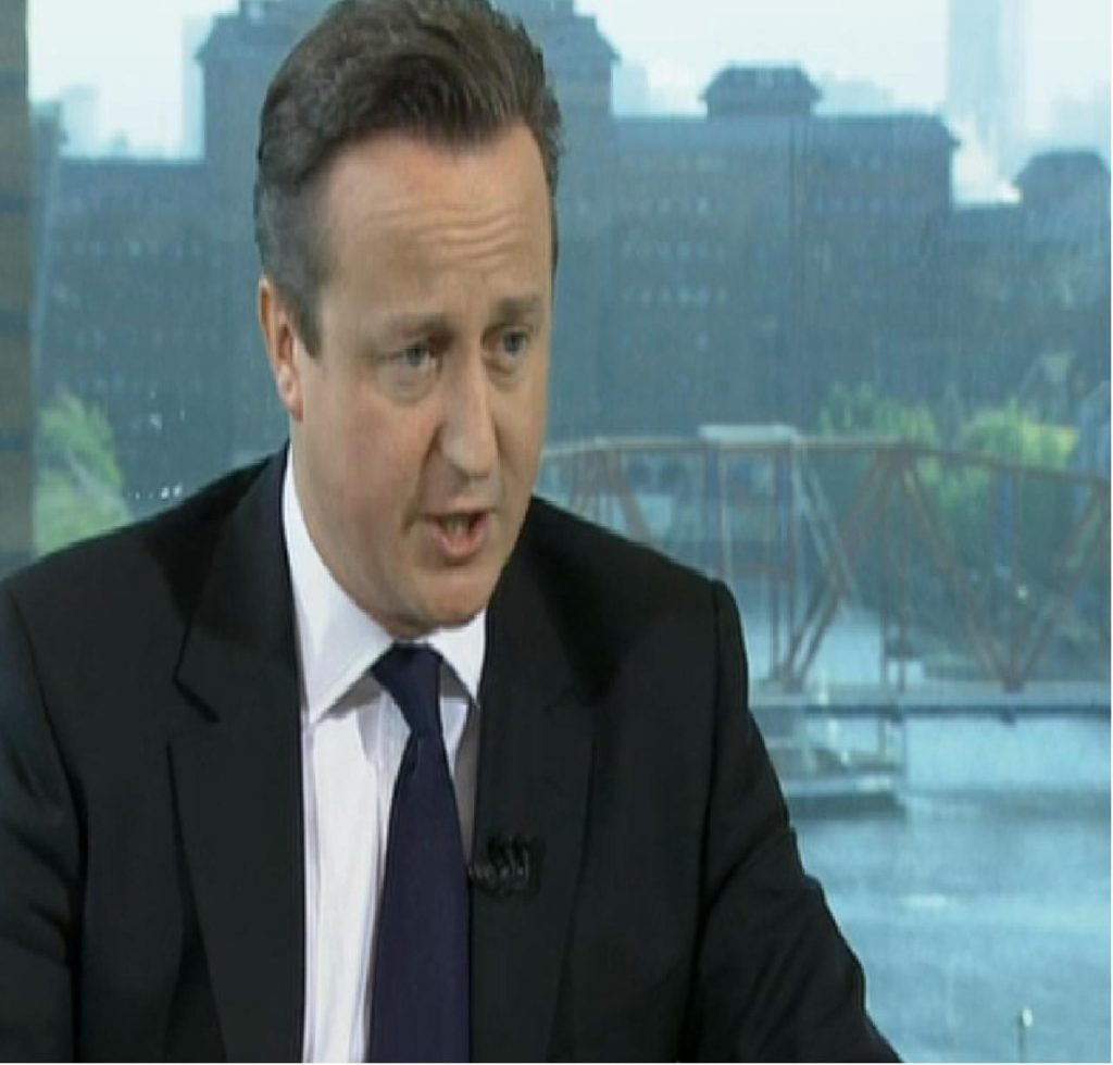 Cameron appeared on the Marr programme on BBC 1 this morning.