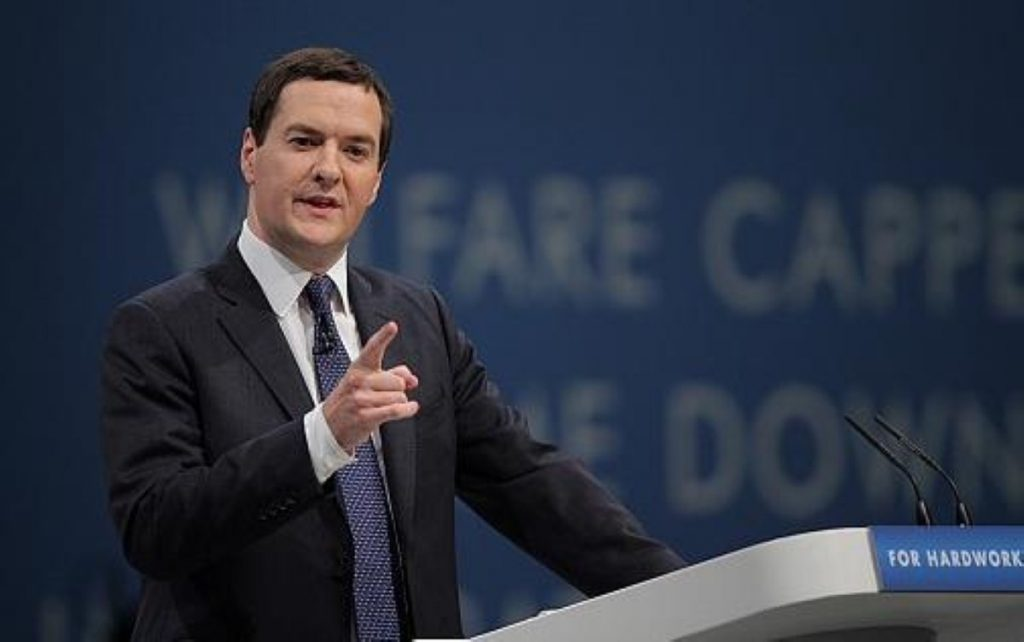 George Osborne's latest speech was not the usual shade of greys, browns and austerity misery