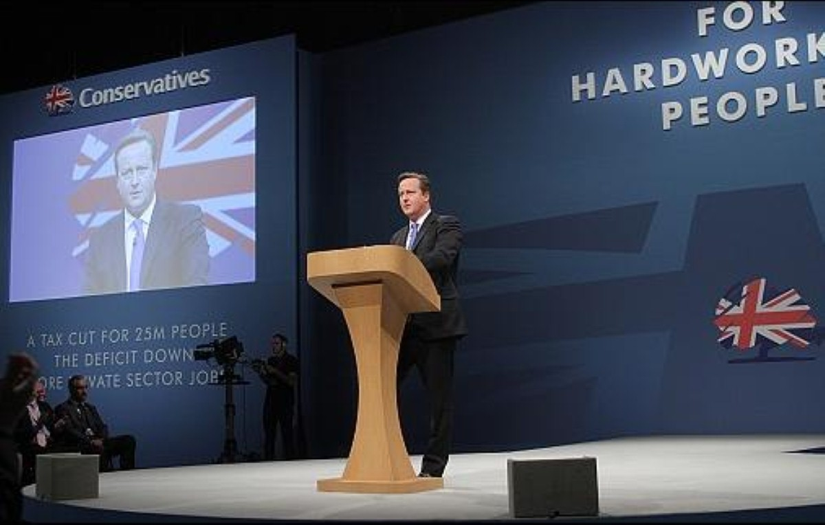 David Cameron: Faintly quivering intensity in Manchester