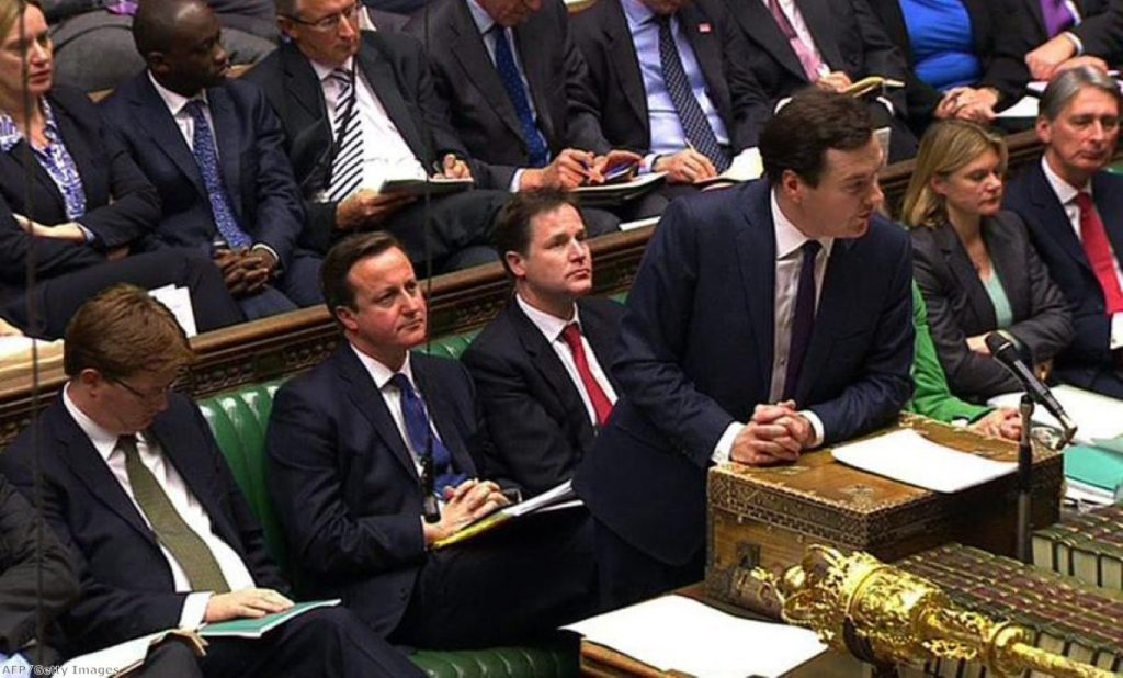 George Osborne delivers the autumn statement in 2012 - his task will be easier today.