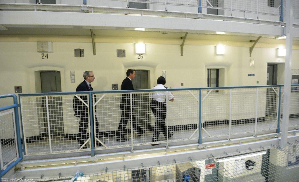 David Cameron visiting Wormwood Scrubs prison