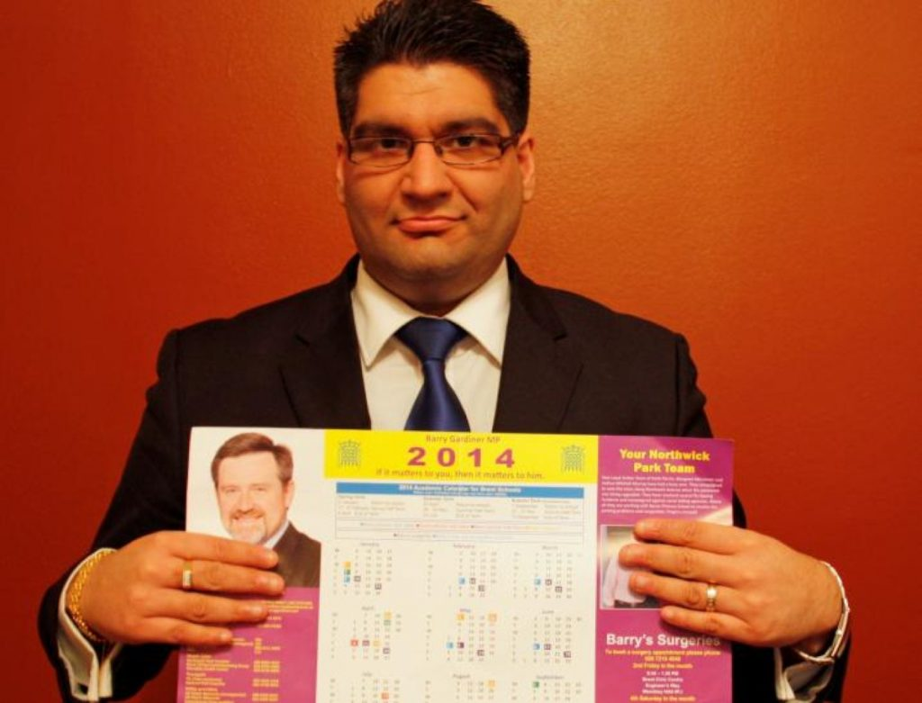 Kishan Devani, a Tory council candidate, wonders what on earth's going on with Barry Gardiner's leaflets
