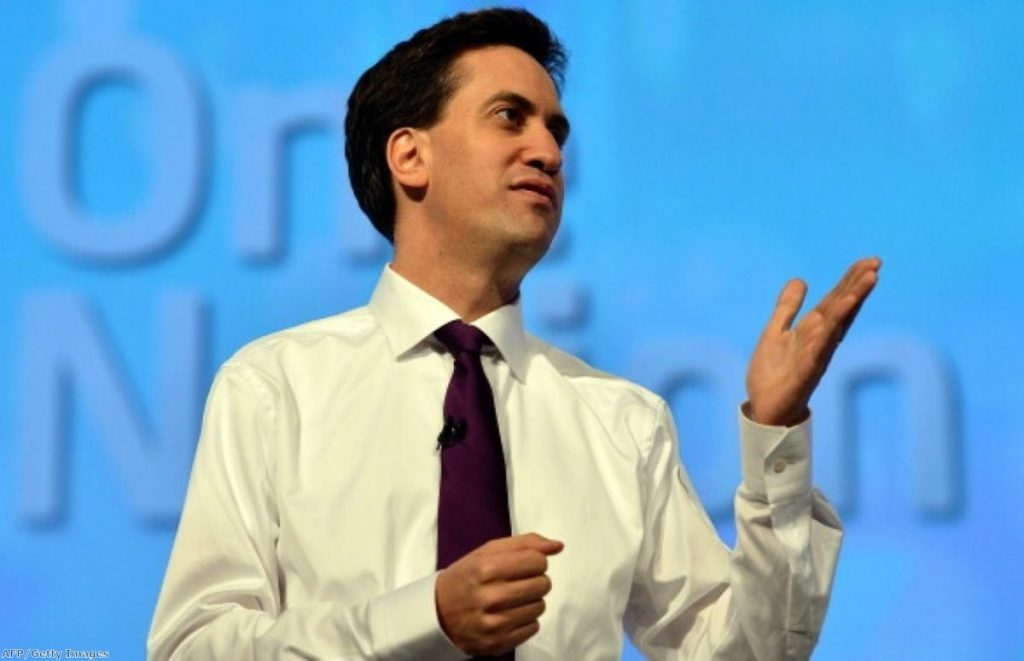 Ed Miliband explaining One Nation - the big idea he hopes will unify Labour campaigners in 2015
