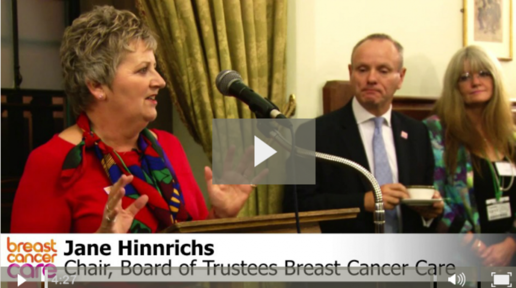 VIDEO: Breast Cancer Care parliamentary event