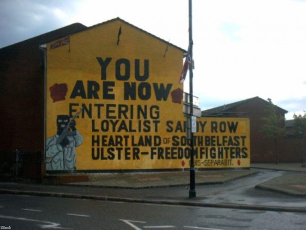 Loyalist mural in South Belfast